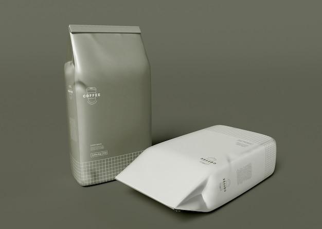 Maqueta de bolsa de café de papel