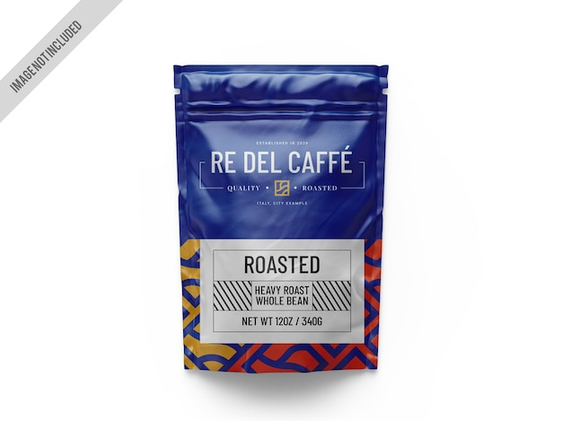 Maqueta de bolsa de café