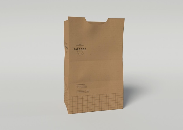 Maqueta de bolsa de cartón