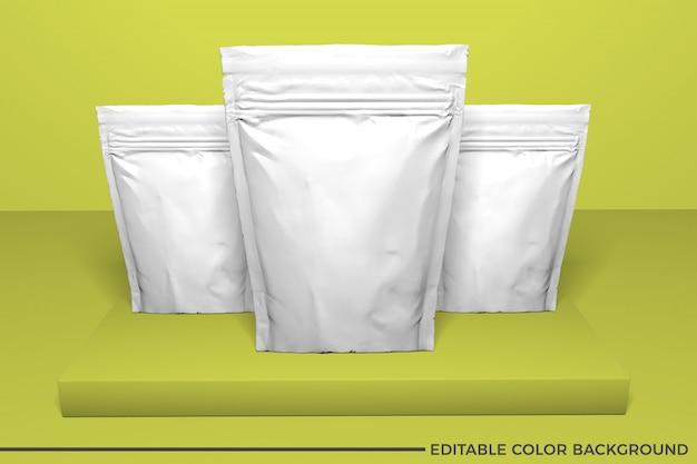 Maqueta de bolsa de comida de plástico