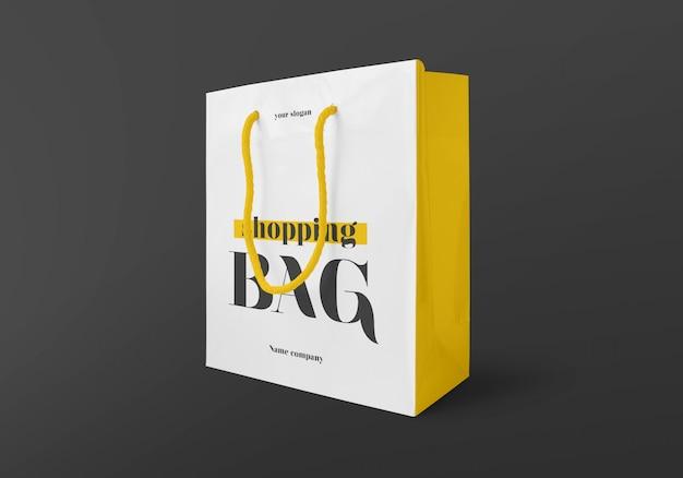 Maqueta de bolsa de compras brillante