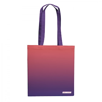 Maqueta de bolsa de compras de lona aislada
