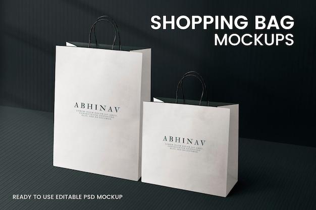 Maqueta de bolsa de compras psd editable