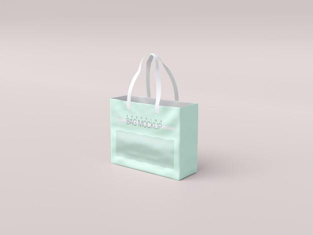 Maqueta de bolsa de compras realista brillante