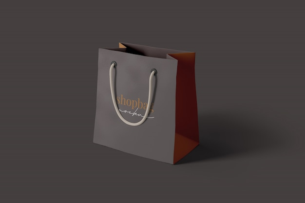 Maqueta de bolsa de compras realista
