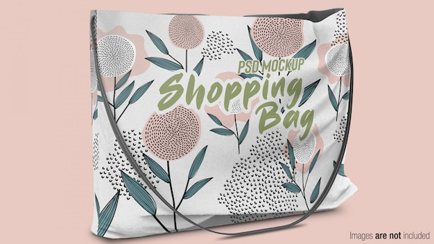 Maqueta de bolsa de compras de tela