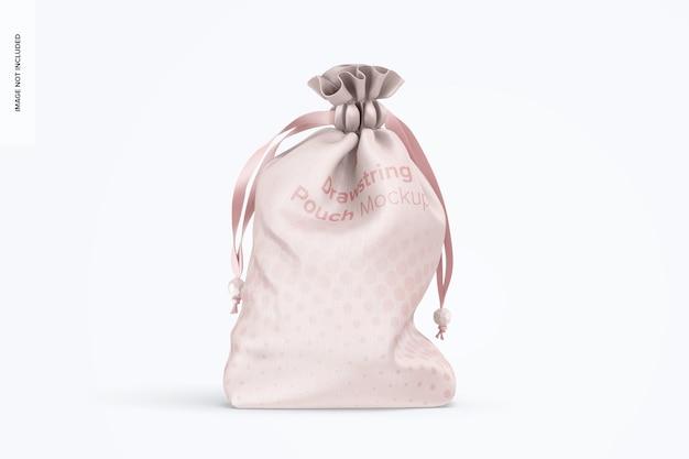 Maqueta de bolsa con cordón