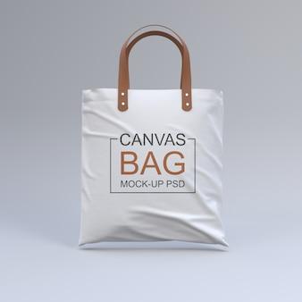 Maqueta de bolsa de lona