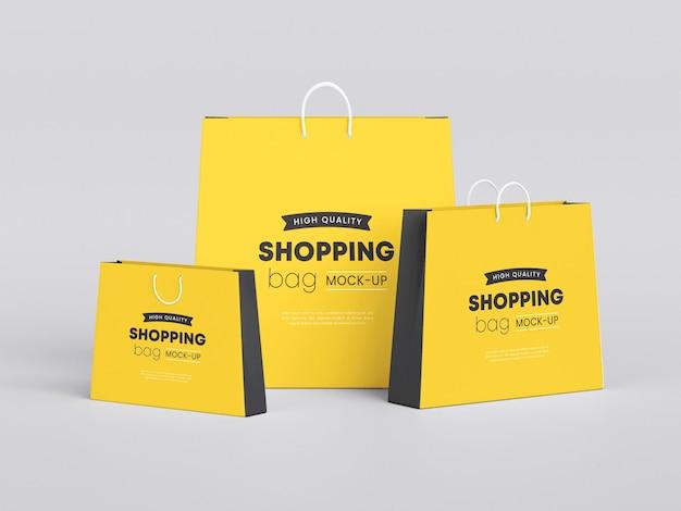 Maqueta de bolsa de papel para la compra