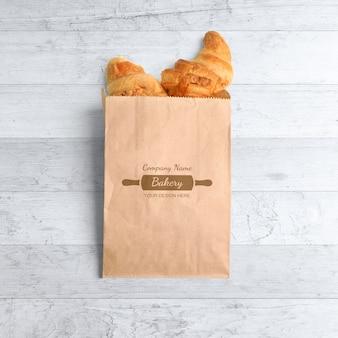 Maqueta de bolsa de papel kraft