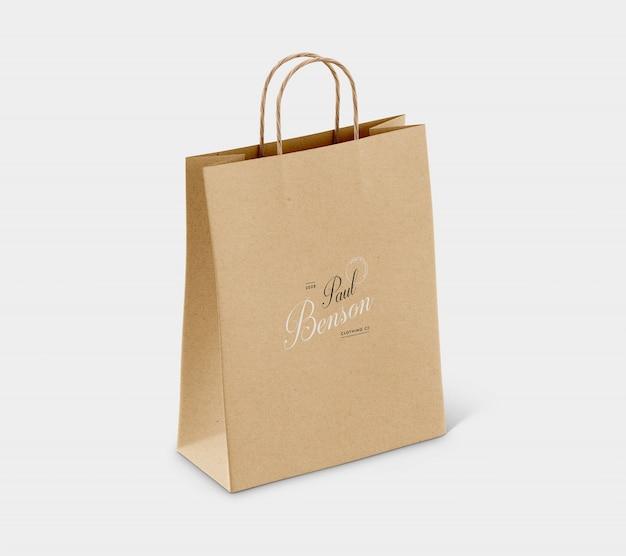 Maqueta de bolsa de papel psd