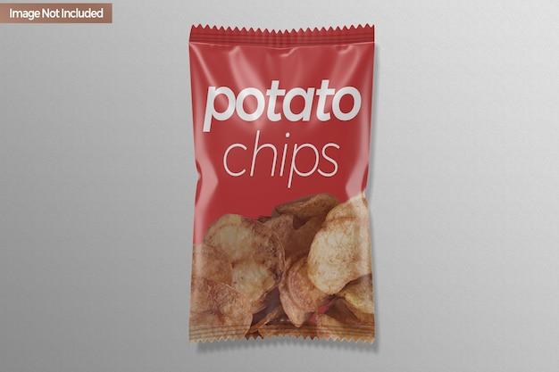 Maqueta de bolsa de patatas fritas