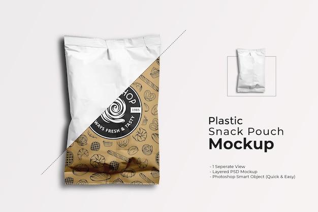 Maqueta de bolsa de plástico para bocadillos