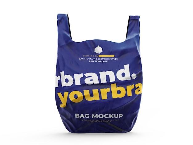 Maqueta de bolsa de plástico de compras