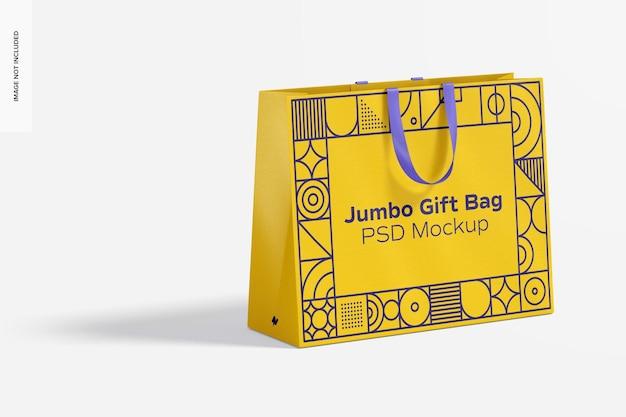 Maqueta de bolsa de regalo jumbo con asa de cinta