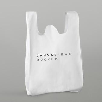 Maqueta de bolsa de supermercado reutilizable blanca