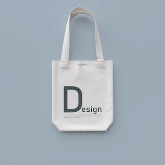 Maqueta de bolsa textil