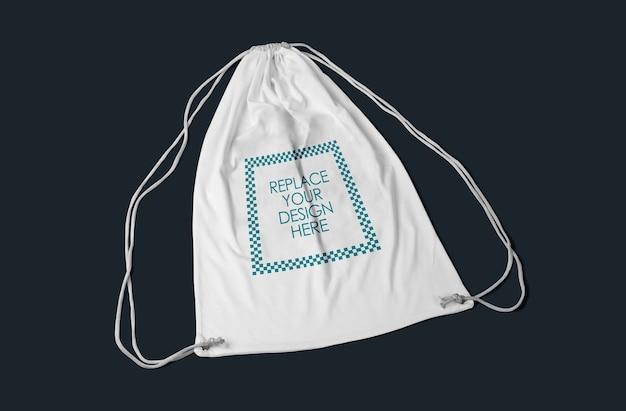 Maqueta de bolso con cordón