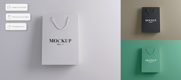 Maqueta de bolso elegante simple