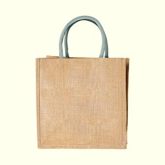 Una maqueta de bolso de mano tejido