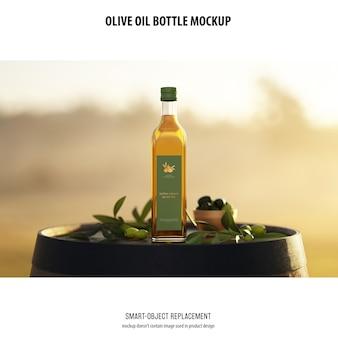 Maqueta de botella de aceite de olve