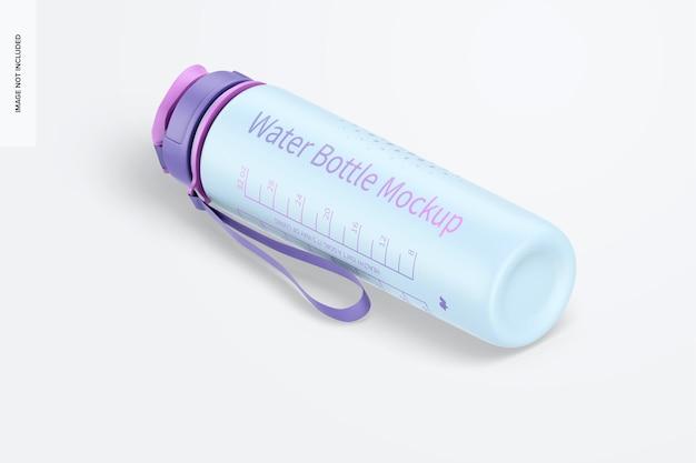 Maqueta de botella de agua de 32 oz, vista isométrica izquierda