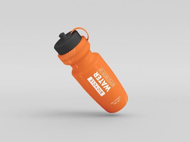 Maqueta de botella de agua de bicicleta