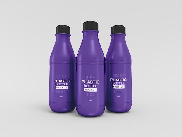 Maqueta de botella de agua de plástico