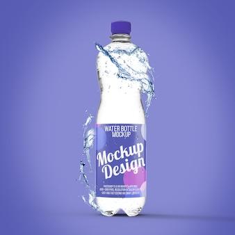 Maqueta de botella de agua