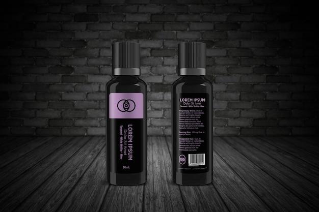 Maqueta de botella alta de pet de 50 ml