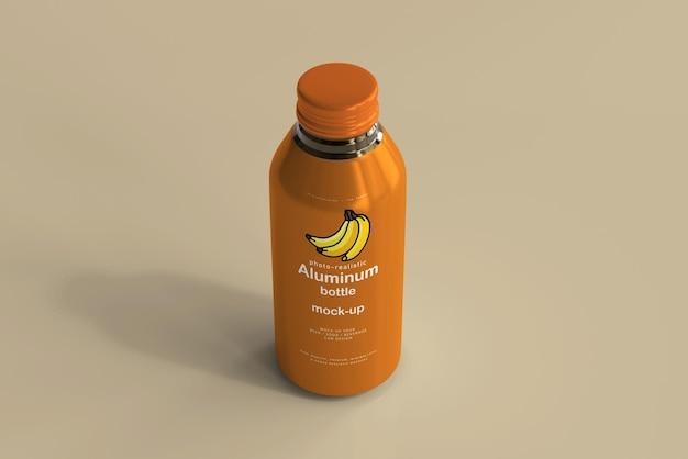 Maqueta de botella de bebida de aluminio grande