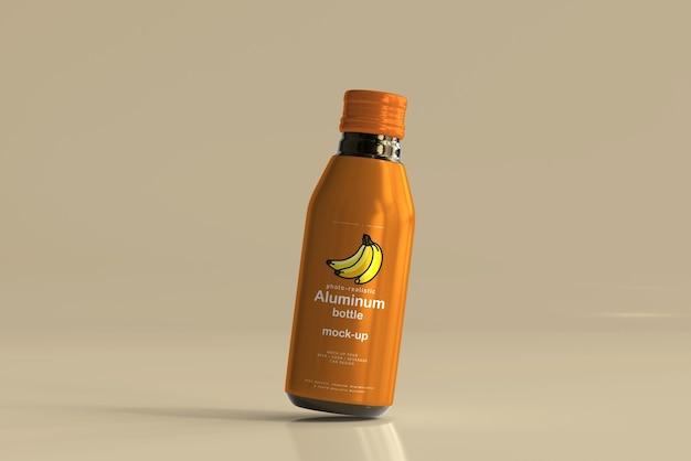 Maqueta de botella de bebida de aluminio