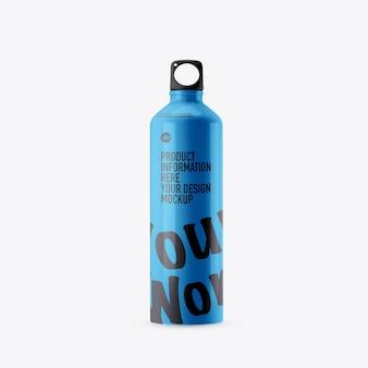 Maqueta de botella de bebida deportiva en espacio en blanco