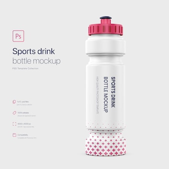 Maqueta de botella de bebida deportiva