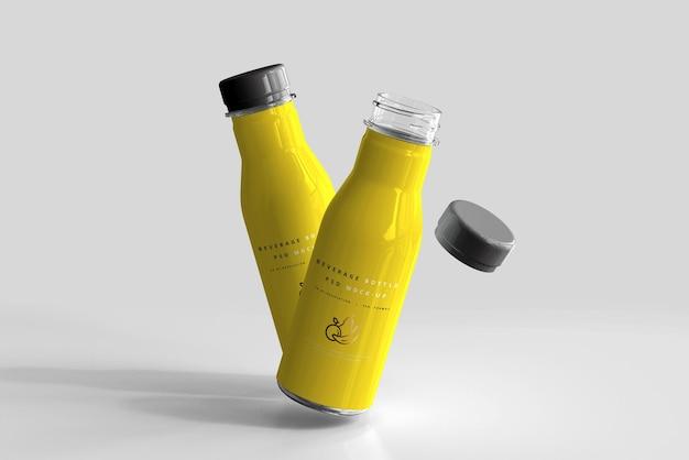 Maqueta de botella de bebida