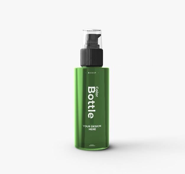 Maqueta de botella de bomba cosmética