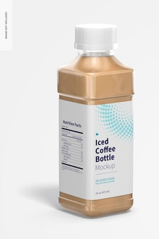 Maqueta de botella de café helado de 16 oz