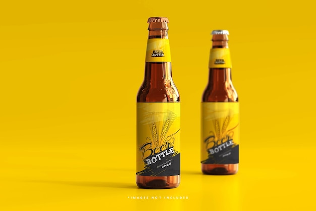 Maqueta de botella de cerveza