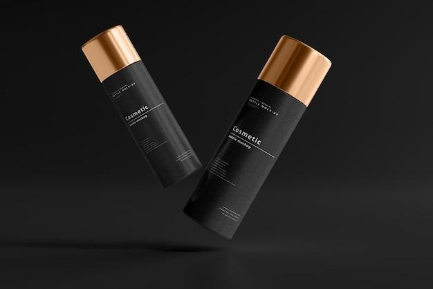 Maqueta de botella cosmética
