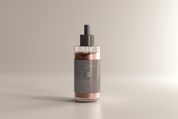 Maqueta de botella de crema cosmética