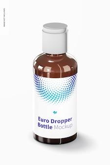Maqueta de botella cuentagotas europea con reductores de orificio