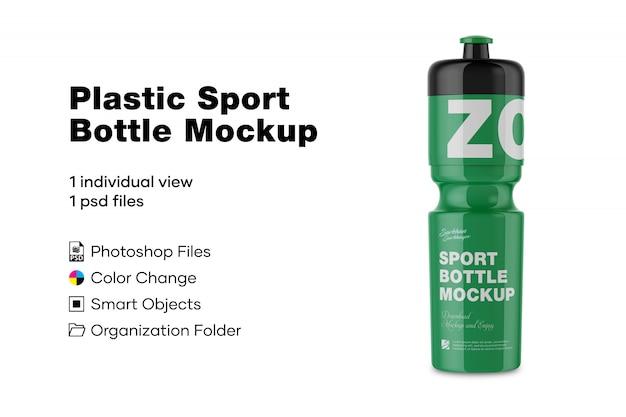 Maqueta de botella deportiva de plástico