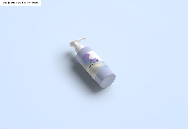 Maqueta de botella de desinfectante de manos
