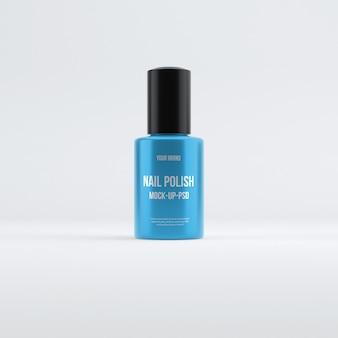 Maqueta de botella de esmalte de uñas