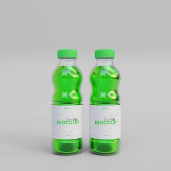 Maqueta de botella de jugo 3d