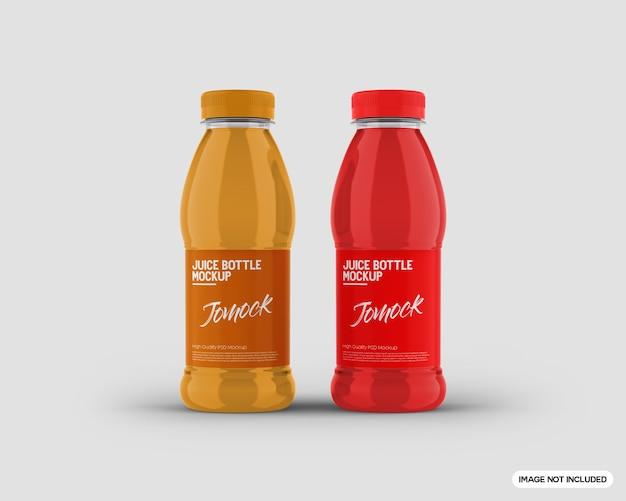 Maqueta de botella de jugo