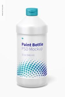 Maqueta de botella de pintura de 32 oz