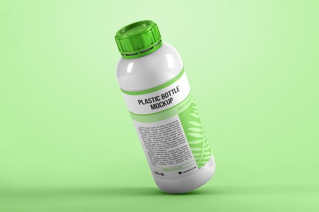 Maqueta de botella de plástico por gravedad