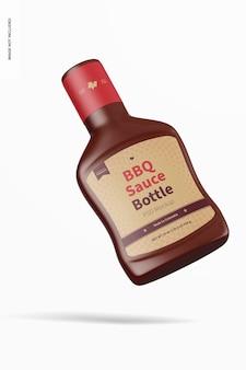 Maqueta de botella de salsa barbacoa