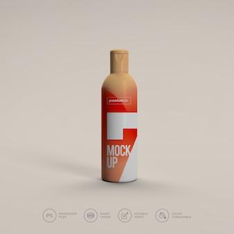 Maqueta de botella de spray cosmético psd premium